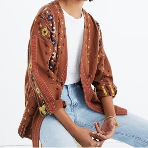 NWT Madewell Embroidered Shirttail Jacket